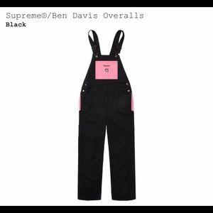 Supreme X Ben Davis Overalls Black and Pink Size M